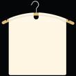 Fabric on garment hanger