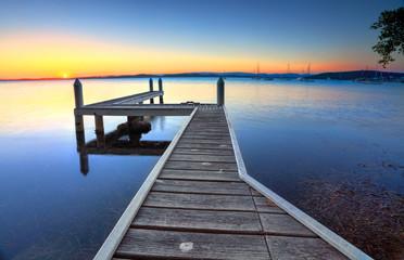 Sunset Pier Belmont Australia