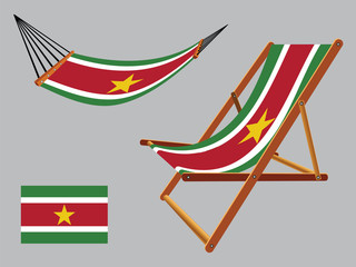 suriname hammock and deck chair set