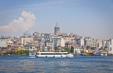 Beyoglu historic district and Galata tower in Istanbul