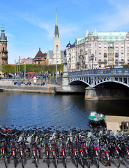 The City of Stockholm in the summer, Sweden, Scandinavia, Europe