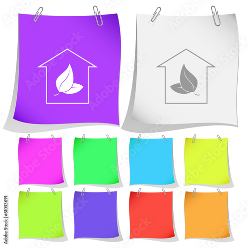Protection of nature. Vector note papers.