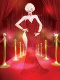 Blonde Bombshell on the Red Carpet