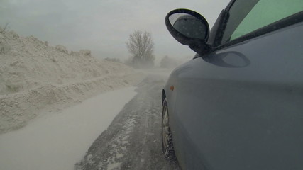Driving Through Snow Drifts