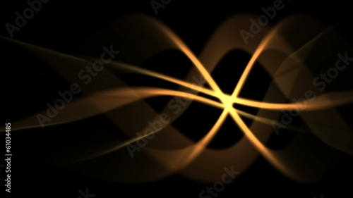 abstract energy background of golden light waves (FULL HD)
