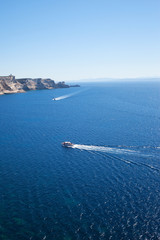 Corsica coast, France.