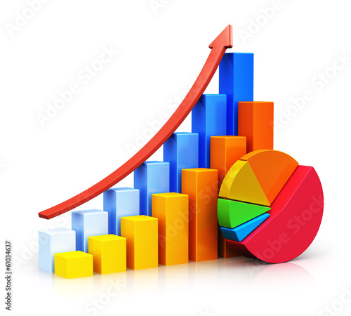 Growing bar graphs and pie chart