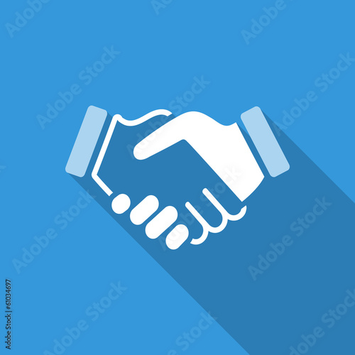 blue handshake background