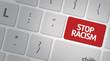 Stop Racism computer keyboard