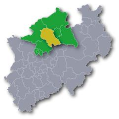 Regierungsbezirk Münster mit dem Kreis Coesfeld