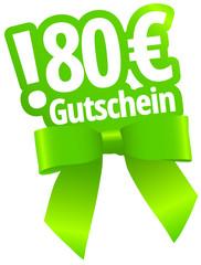 80 Euro Gutschein