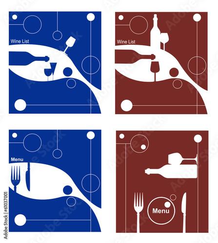 serie di menu per bar o ristorante