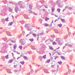 Abstract flourish texture. Floral seamless splash pattern