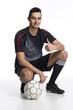 canvas print picture - junger Fussballer Daumen hoch