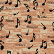 Abstract Music notes seamless pattern