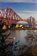 Forth Bridge and raw boat