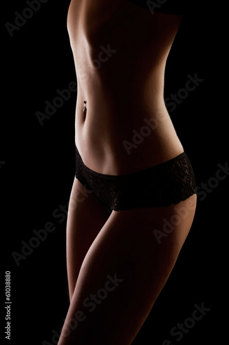 sensuously curved slender female figure