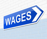 Wages concept. poster