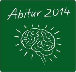 Abitur 2014 u. Gehirn - auf Tafel