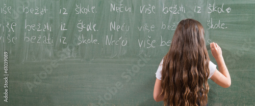 writing on a blackboard