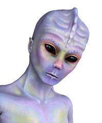 Curious Alien Portrait