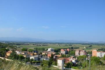 Vue de Figueres depuis le chateau Sant Ferran