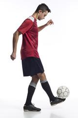 junger südeuropäischer Fussballer