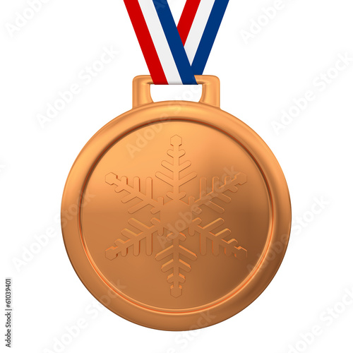 Winter games bronze medal 3d render