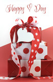Polka dot decorated giftsfor Valentine's Day
