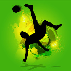 overhead kick background