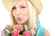 Küsschen mit Blumen