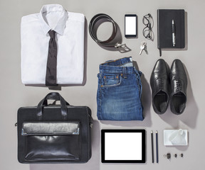 Outfit of business man.