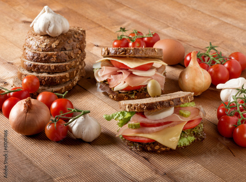 Delicious  sandwich with organic ingredients...