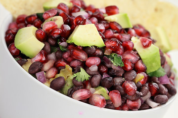 Black Bean, Pomegranate and Avocado Relish