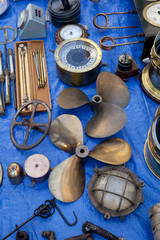 Old propellers and other naval antiques