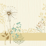 Floral Seamless Card Sand