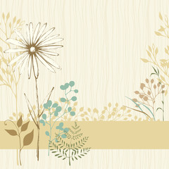 Floral Seamless Card Sand