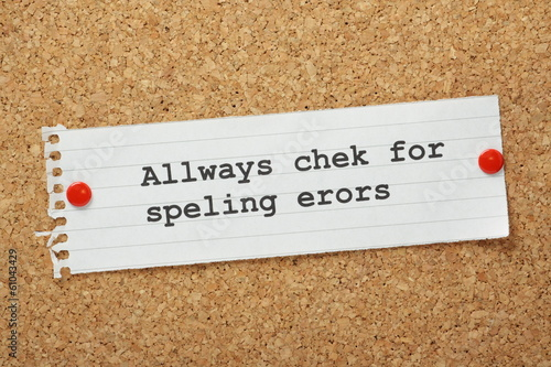 Always Check For Spelling Errors Concept