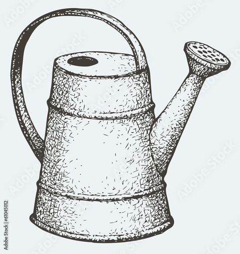 Vector drawing.  Watering can