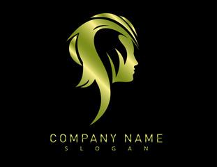 Profile gold woman