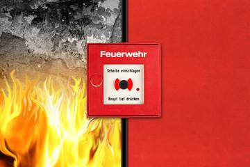 Feueralarm Konzept