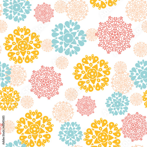 Vector abstract decorative circles stars seamless pattern