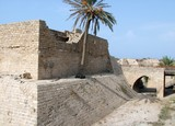 Ancient Crusades  Fort. Caesarea. Israel
