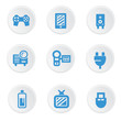 Electronics icons on white background,vector