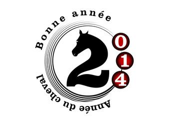 Cercle bonne année - année du cheval - 2014
