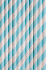 Background or pattern of spotted drinking paper straws
