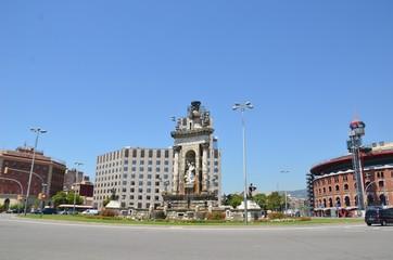 Place d'Espagne, plaça d'Espanya à Barcelone