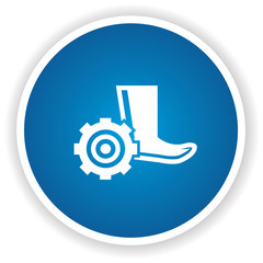 Safety boot symbol,vector