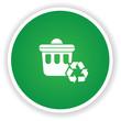 Recycle bin symbol,vector