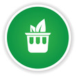 Ecology bin symbol on green button